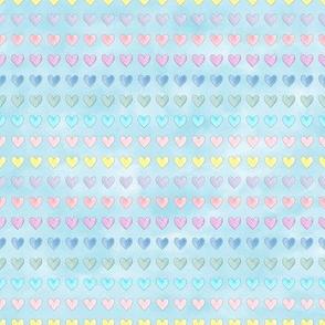 Air Hearts stripes