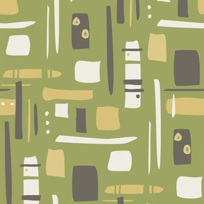 retro pattern green