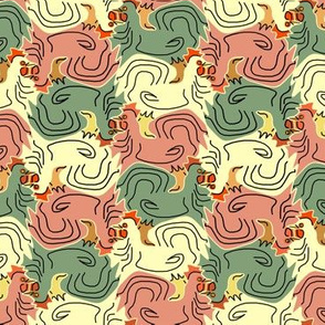 Tessellating Roosters 2