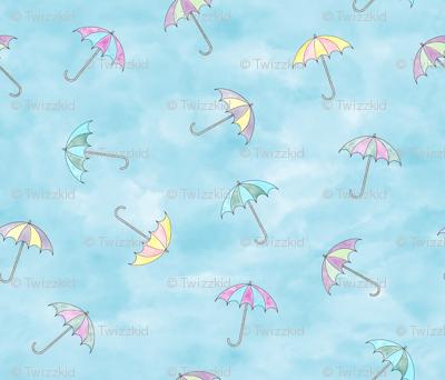 Air Umbrellas watercolor
