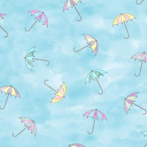 Air Umbrellas watercolor