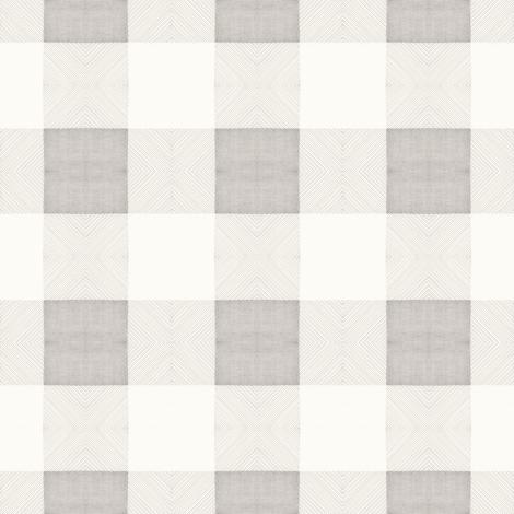 Pencil BuffaloCheck Variation Small fabric by lilafrances on Spoonflower - custom fabric