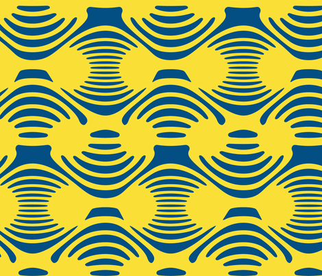 Geometric Blue and Yellow fabric by mollywog2 on Spoonflower - custom fabric