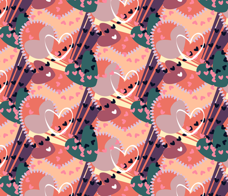 Hearts Galore fabric by madmelody on Spoonflower - custom fabric