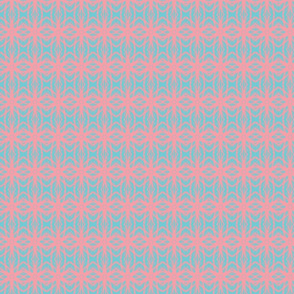 Soft Knit/aqua&pink