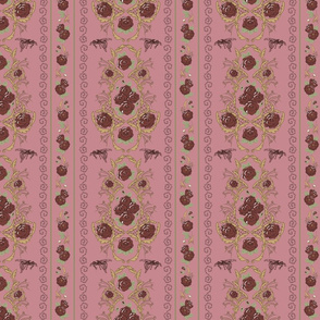 Dark Sinister Shabby Wallpaper Pink