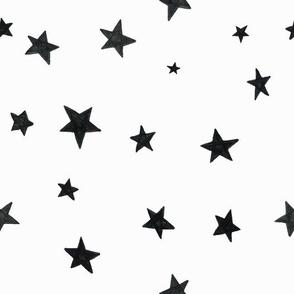hand drawn stars black on white