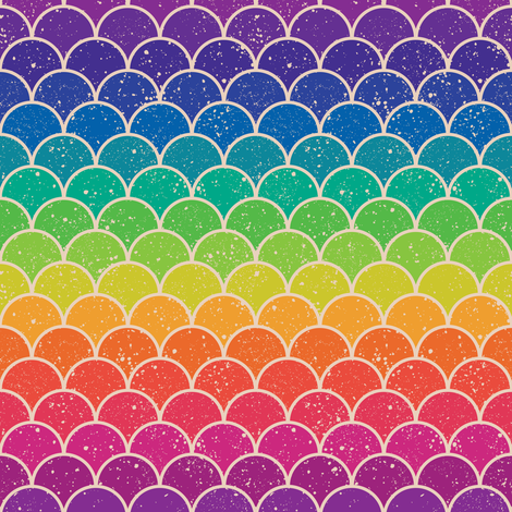 Rainbow Glitter Scales fabric by sandityche on Spoonflower - custom fabric