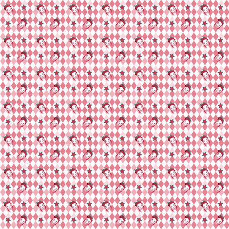 BCSF2016_CIRCUSGIRL_PINK_DOLLSZ fabric by agreencat on Spoonflower - custom fabric
