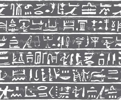 Hieroglyphics on Charcoal // Small