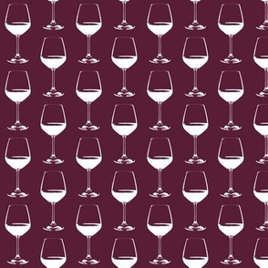 "Wine Glasses on Cabernet - Small (2"")"