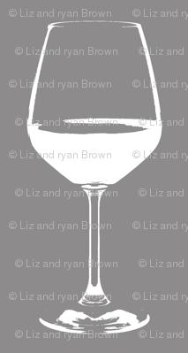 "Wine Glass on Gray - Small (2"")"
