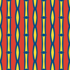 Bold Red Blue and Yellow Stripes