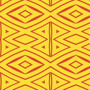 Tribal Red and Yellow 1