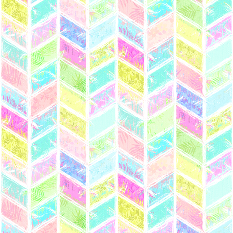 Rainbow Smudgy Patchwork Chevron 2 fabric by micklyn on Spoonflower - custom fabric