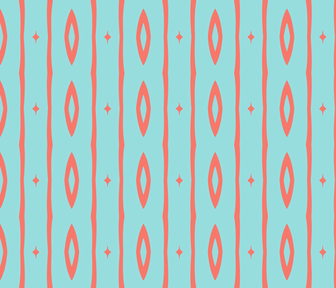 Retro Colors Vertical Stripe 1 fabric by mollywog2 on Spoonflower - custom fabric