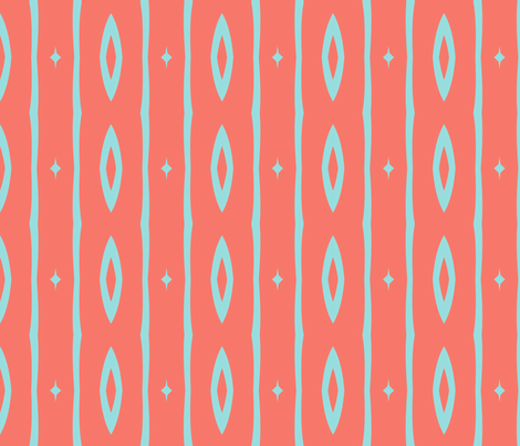 Retro Colors Vertical Stripe 2 fabric by mollywog2 on Spoonflower - custom fabric