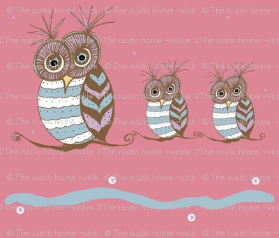 Whoootastic Owls Pink