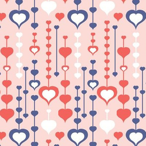 Falling In Love - Valentine's Day Hearts Pink