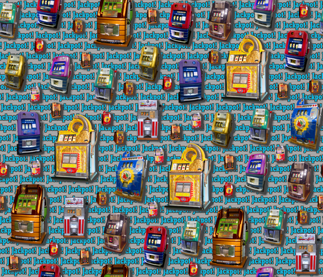 Dean's Slot Machines ~ Jackpot! fabric by midcoast_miscellany on Spoonflower - custom fabric