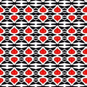 Island Love Drops Red Black