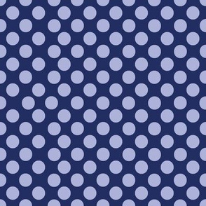 Polka Dotty in blue violet on ink