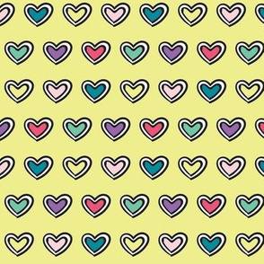 sock accent hearts