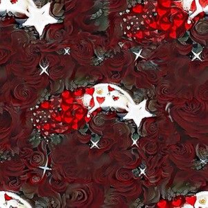 In a Cloud of Red Roses
