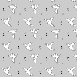 paper bird monochrome