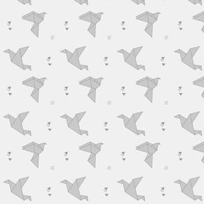 paper bird gray
