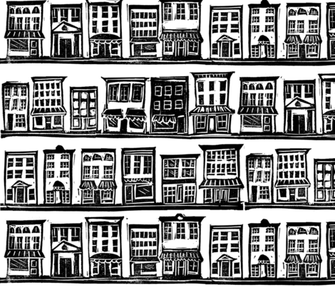 Small Town Block Print fabric by joan_mcguire on Spoonflower - custom fabric