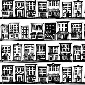 Small Town Block Print