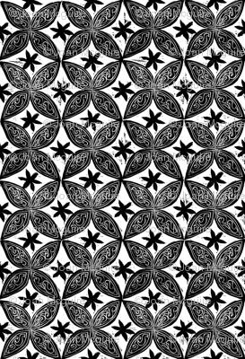 Circular Flowers Block Print