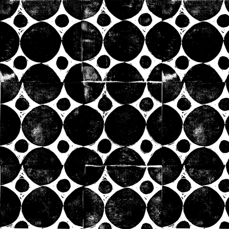 Black circles block print fabric by joan_mcguire on Spoonflower - custom fabric