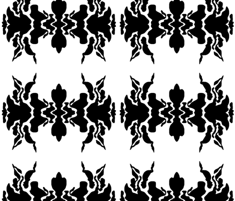 Ink Blot fabric by mopeysealion on Spoonflower - custom fabric