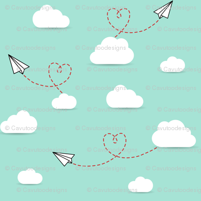 Paper Airplanes + Hearts