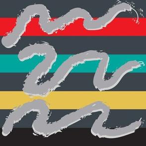 Postmodern Rugby Stripe Doodles