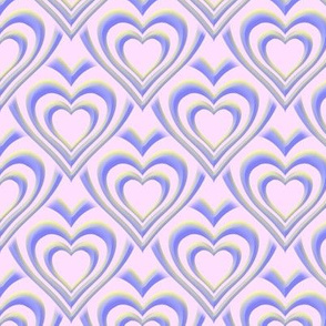 heart in lemon and lilac
