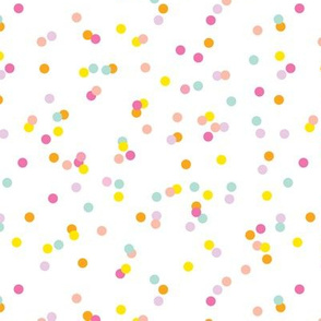 Colorful confetti celebration party festive memphis style design