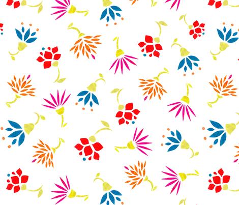 Cutout Flower 1 fabric by brokkoletti on Spoonflower - custom fabric