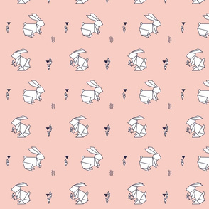paper bunny pastel pink