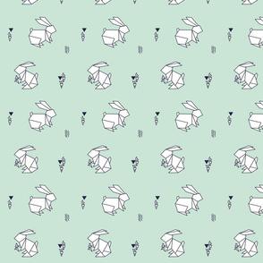paper bunny pastel mint