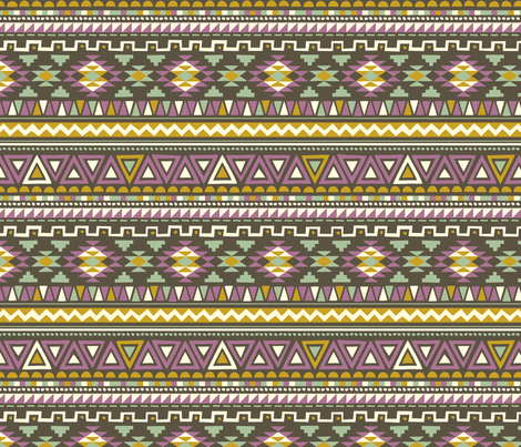Boho Violet fabric by kaeselotti on Spoonflower - custom fabric
