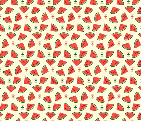 Hipster Melons fabric by kaeselotti on Spoonflower - custom fabric