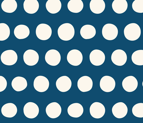 Big Dots: Navy fabric by nadiahassan on Spoonflower - custom fabric