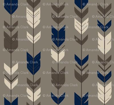 Arrow Feather-Cedar Ridge-brown/navy