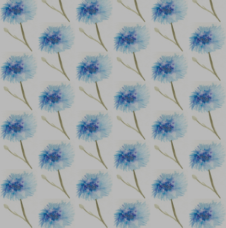 Cornflowers fabric by dragonfairy on Spoonflower - custom fabric