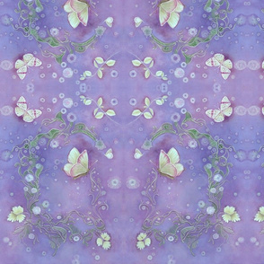 Butterfly Scrolls in Periwinkle Blue
