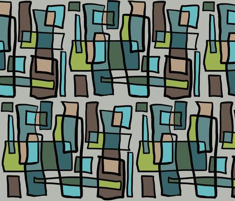 Rectangle Aquamarine fabric by landrycreative on Spoonflower - custom fabric