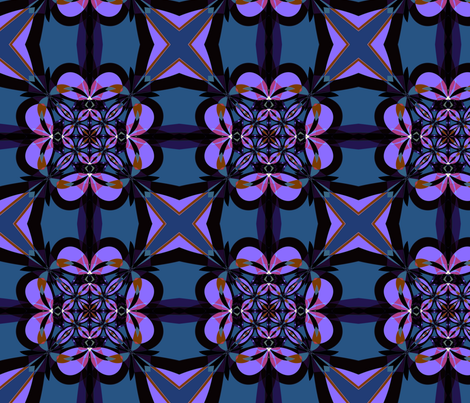 Purple and Slate Kaleidoscope fabric by gingezel on Spoonflower - custom fabric